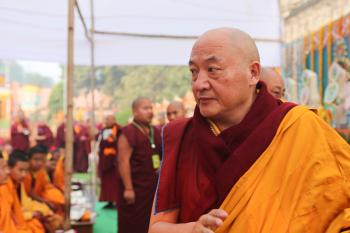 Gyaltsap Rinpoche visits the Mahabodhi Temple
